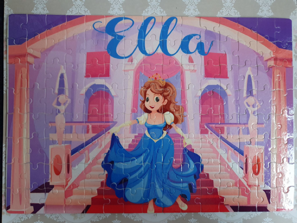 Child's Princess Rectangle Cardboard Jigsaw Puzzle
